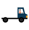 delivery truck vehicle with driver vector image