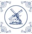Dutch mill vector image vector image