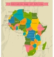 Editable map of Africa with all countries vector image