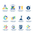 education logo collection vector image vector image