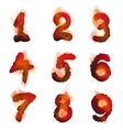 English burning numbers vector image vector image