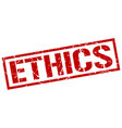 ethics stamp vector image