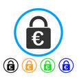 euro lock rounded icon vector image