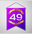 forty nine years anniversary celebration design vector image vector image