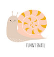 funny snail isolated on white vector image