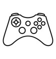 gamepad icon outline style vector image vector image