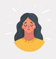 girl in desperate crying vector image