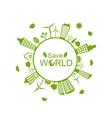 Green Futuristic World vector image vector image