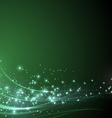 Green sparkle shimmering abstract background vector image