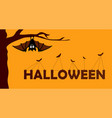 happy halloween paper cut style concept of vector image vector image
