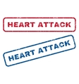 Heart Attack Rubber Stamps vector image vector image