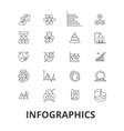infographics graph information elements arrow vector image