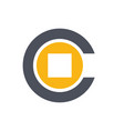 initial letter c coin money logo vector image vector image