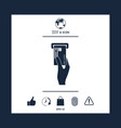inserting credit card icon vector image