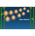 Japanese summer Bon Festival background vector image