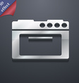 kitchen stove icon symbol 3D style Trendy modern vector image