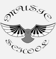 logo classical music in form an owl with vector image vector image