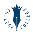 logo nib and crown for college vector image vector image