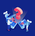 machine learning isometric vector image vector image