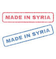 made in syria textile stamps vector image vector image