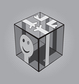 Man Cube vector image vector image