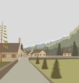 Mountain village landscape vector image vector image