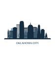 oklahoma city skyline monochrome silhouette vector image vector image