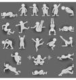 People Monochrome vector image vector image