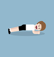 planking exercise vector image