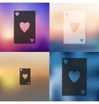 playing card icon on blurred background vector image