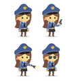 police girls vector image vector image