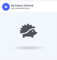porcupine icon filled flat sign solid vector image vector image