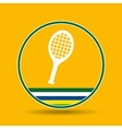 racket tennis sport badge icon vector image