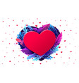 red heart valentines day 3d red hearts and vector image