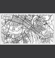 richmond virginia usa city map in retro style vector image