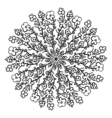 Round Ornament Pattern Snowflakes Vintage vector image vector image