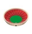 round sports stadium cartoon icon vector image