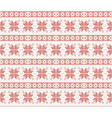 seamless knitted pattern with christmas ornament vector image vector image