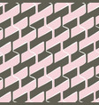 seamless pattern with hexagonal woven shapes vector image
