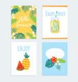 set hand drawn summer journaling cards vector image vector image