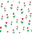 single red roses in flat vector image vector image
