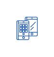 smartphones isometric line icon concept vector image vector image