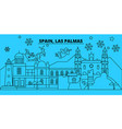 spain las palmas winter holidays skyline merry vector image vector image