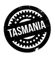 tasmania rubber stamp vector image vector image