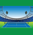 tennis court stadium vector image