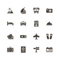 travel - flat icons vector image
