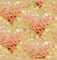 valentines day seamless pattern contour hearts vector image vector image