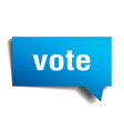 vote blue 3d speech bubble vector image