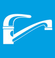 water tap icon white vector image