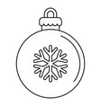 xmas tree ball icon outline style vector image